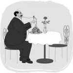 Eating for one - alone clipart