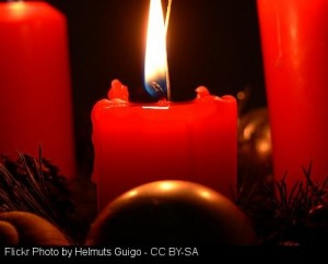 December 2015 From The Editor - Being Present Candle